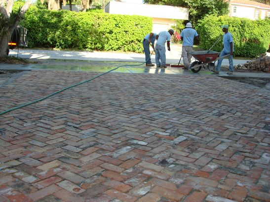 Best Paver Installation Ideas On Pinterest Brick Sidewalk - Concrete octagon patio pavers