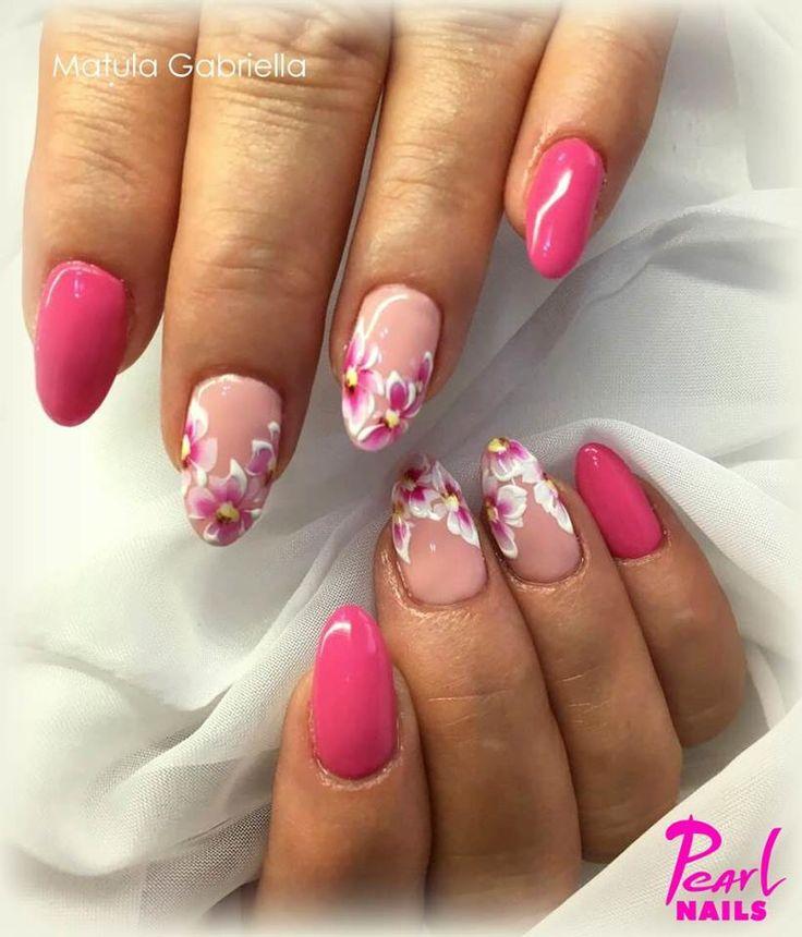 Felhasznált anyagok/Nails made with: 405  PearLac Classic,  043-as PearLac One Step gél lakk. Minta / pattern: akril festékkel és Premium Finish 1301 Color Gel. Fedés/Top cover: EO Top Gel.  #pearlnails #gelnails #nails #naildesign #summernails