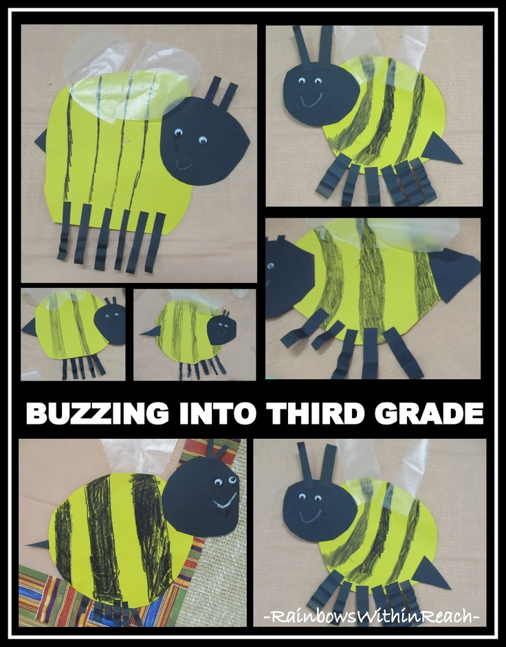 Bumblebee Theme: wax paper wings!