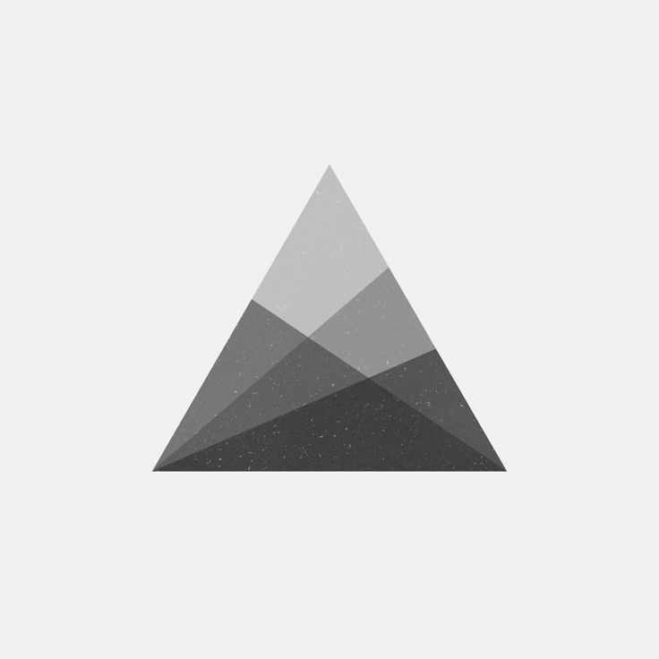 25 best ideas about geometric triangle tattoo on