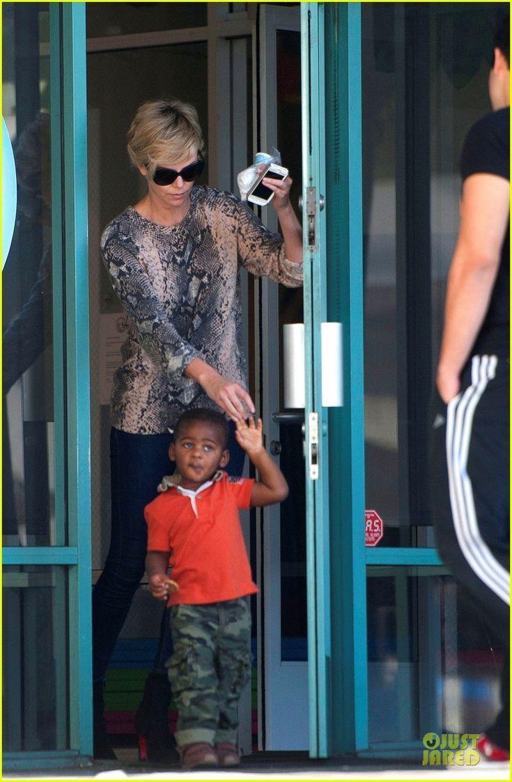 Charlize Theron takes her son Jackson to the children's gym on January 13, 2014