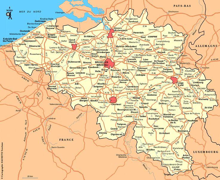 Belgien Karte im Belgien Reiseführer http://www.abenteurer.net/1000-belgien-reisefuehrer/