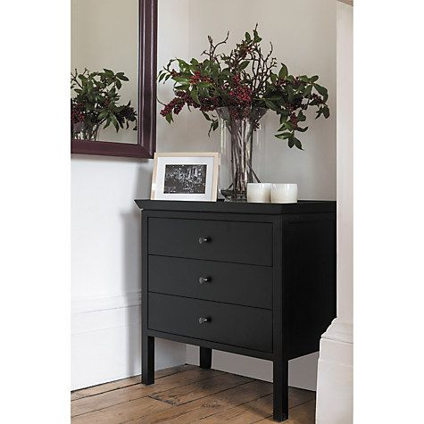 Buy Neptune Aldwych 3 Low Drawer Chest, Warm Black Online at johnlewis.com
