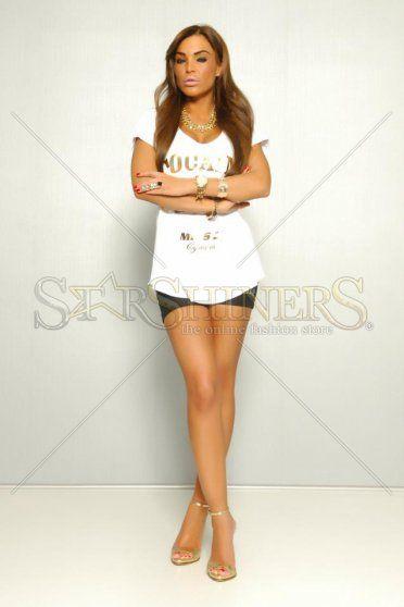 Tricou MissQ Caviar White