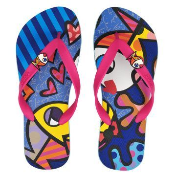 Celebrate National Flip Flop Day in Fort Lauderdale with Britto flip flops from Casatessa!