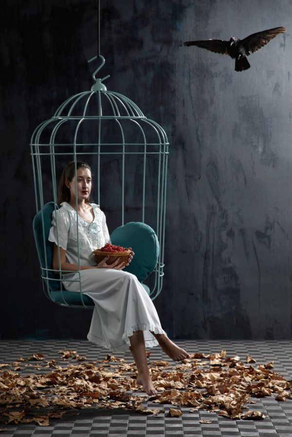 A Bird Cage Like Swing by Ontwerpduo in home furnishings  Category  This is legit.