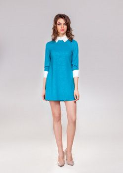 Платье VIDI-ALLE 878 42 Аквамариновое (878)