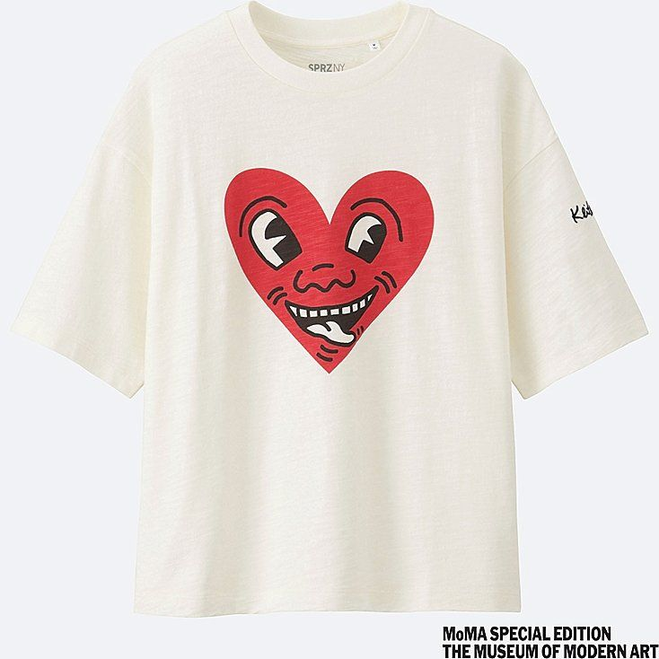 WOMEN SPRZ NY Short Sleeve Graphic T-Shirt (Keith Haring)