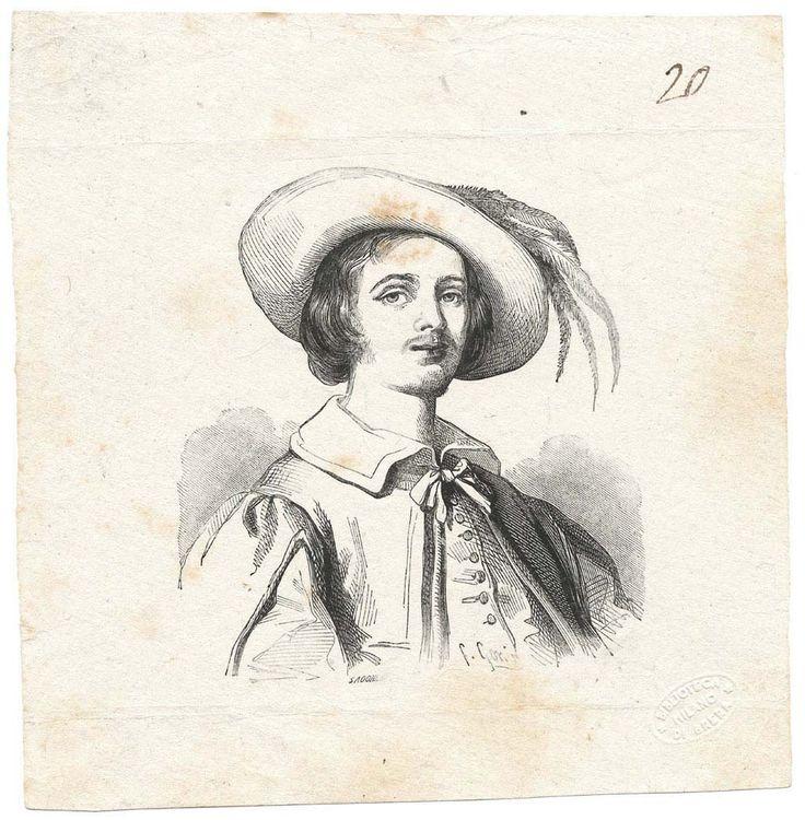 """Renzo Tramaglino ( bozze delle illustrazioni per l'edizione de """"I Promessi sposi"""" del 1840 / n. 020)"""
