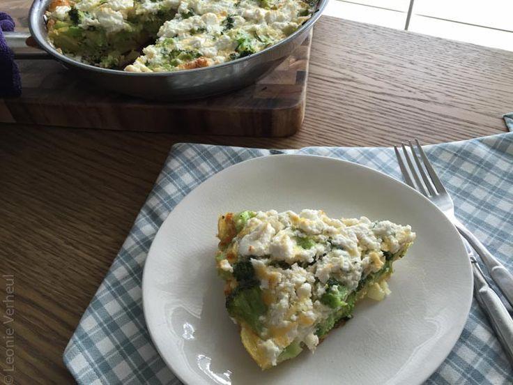 Frittata met broccoli en geitenkaas