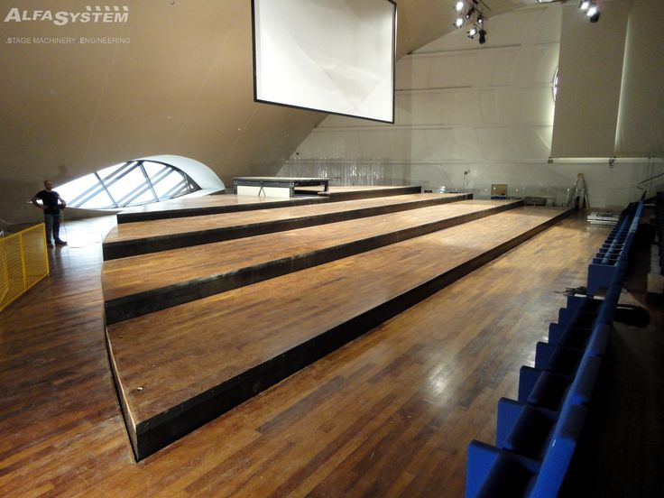 Stage platforms Auditorium Oscar Niemeyer (Ravello - Italy)