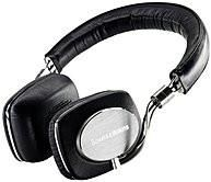 Bowers & Wilkens P5BLACK P5 Wired Hi-Fi Headphones - Noise-Isolation - On-Ear - 3 FT Cable - Black/Grey