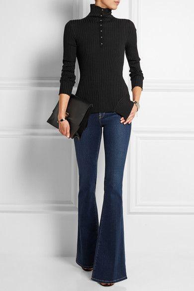 Stella McCartney|Asymmetric wool and silk-blend sweater|NET-A-PORTER.COM