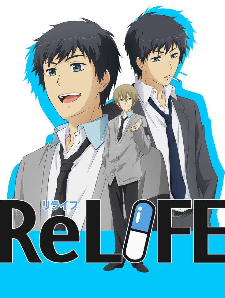 ReLife-I'm always wanting anime with adult characters since I am an adult (26) this shows main character is actually older than me, but interesting premise where he goes back to high school, fun to imagine myself back as he goes through it all again.