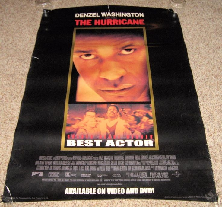 The Hurricane Movie Poster Denzel Washington Vicellous Shannon Liev Schreiber
