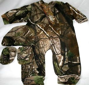 images of camo baby clothes | Realtree APG Camouflage Baby Sleeper Hat Booties Infant Camo Clothes ...