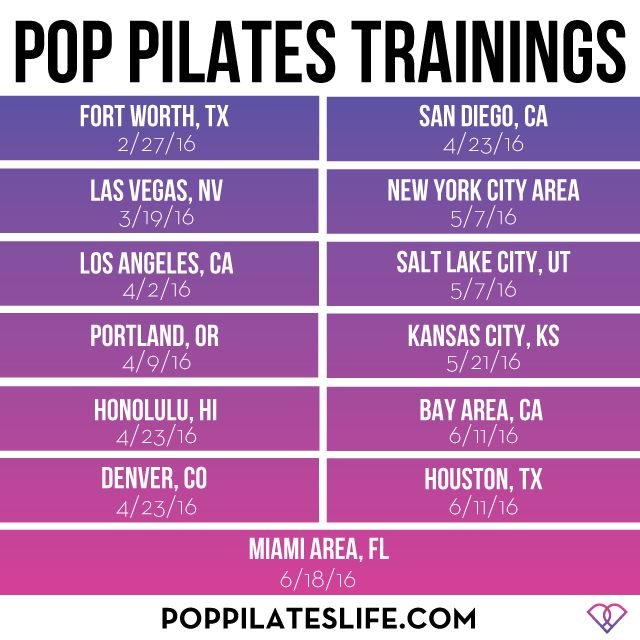 POP Pilates Instructor Trainings 2016!