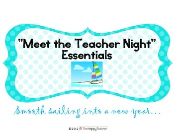 "Everything you need to make ""Meet the Teacher Night"" a success!!"