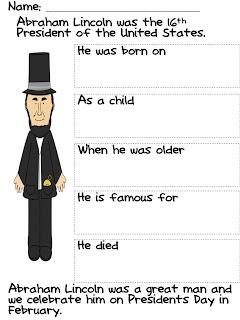 Lincoln Graphic Organizer Happy Birthday Mr. Lincoln