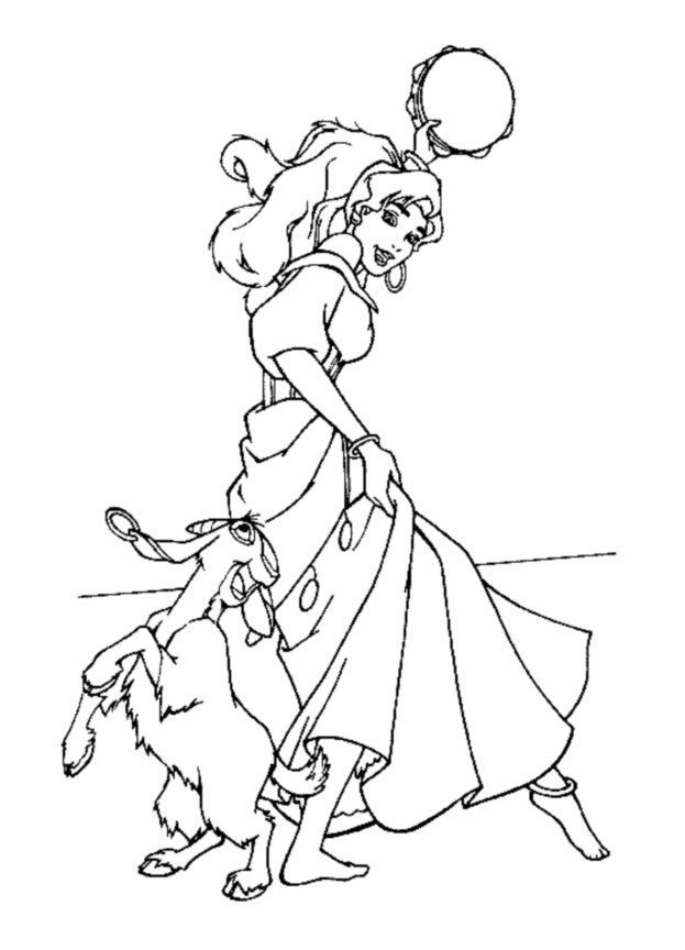 esmeralda coloring pages - photo#22