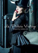 Frete grátis Le Palais vindima edição limitada retro saia show de cintura fina fumar fino carregado 100% casaco de lã / casaco(China (Mainland))