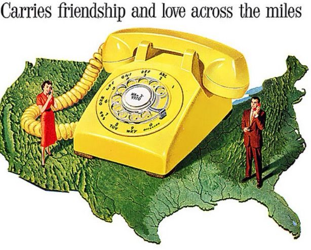 1958 - The wonderful yellow telephone!