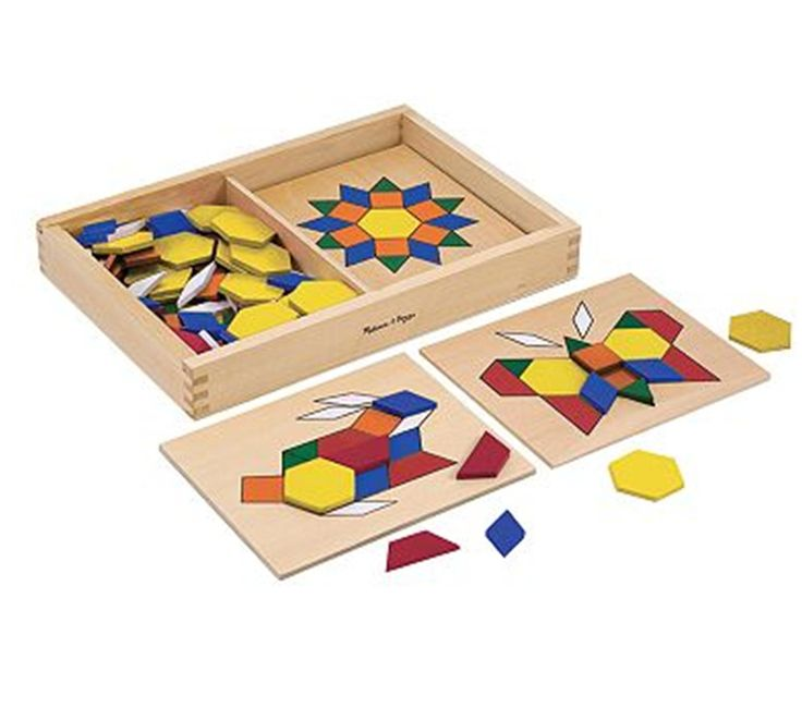 Pattern Blocks and Boards Mosaics for Kids by Melissa and Doug Toys and Games