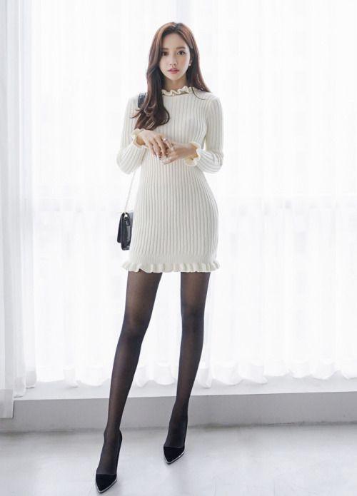 itsukadokoka:  (via Frill Accent Knitted Dress - BABI N PUMKIN:...