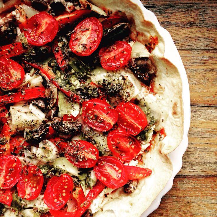 Tortilla pizza pie, to eat praying!!