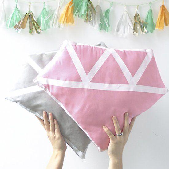 DIY Diamond Pillow
