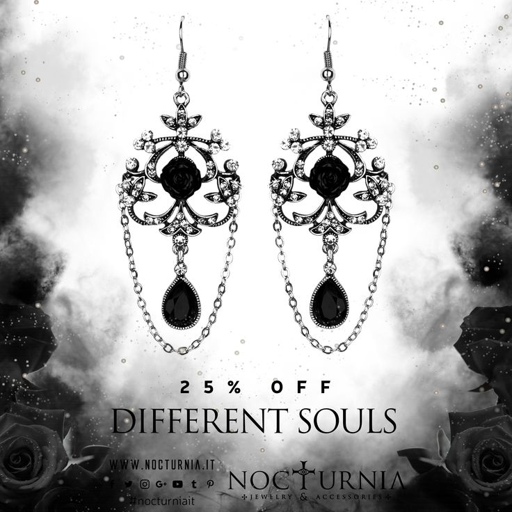 """DIFFERENT SOULS"" earrings are 25% OFF only in our shop! Click here http://bit.ly/differentsouls #nocturniait #blacksummersale"