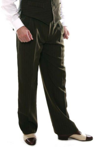 Men's Olive Green Tango Pants   conSignore Tango Clothes for Men   #tangopants #menstangopants #menstangoclothes #argentinetango