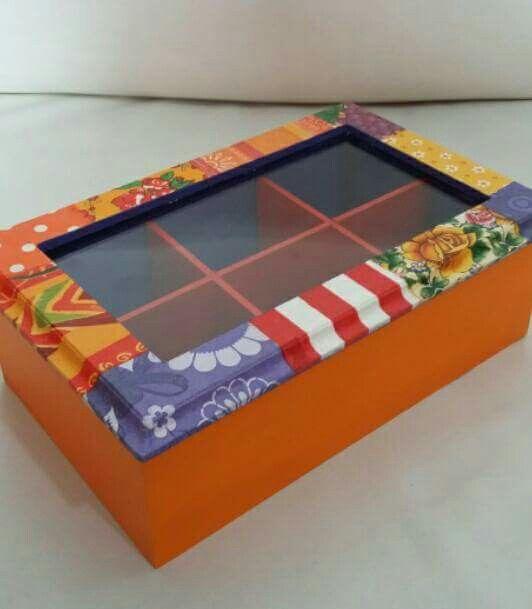 Caja de té colorinche para Sole