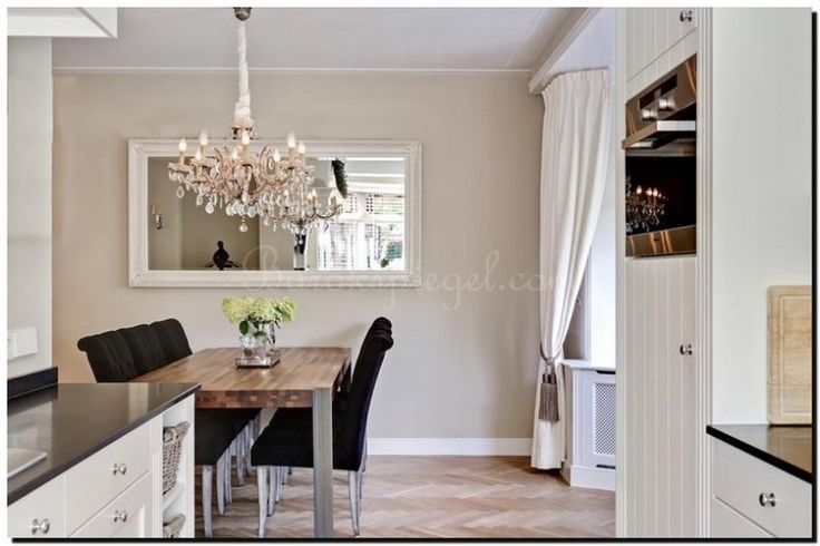 1000 idee n over witte spiegel op pinterest accent muur for Spiegel boven dressoir