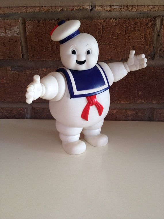 Vintage Mr Stay Puft Action Figure, Ghostbusters Marshmallow Man toy, 1984 movie figurine on Etsy, £9.56