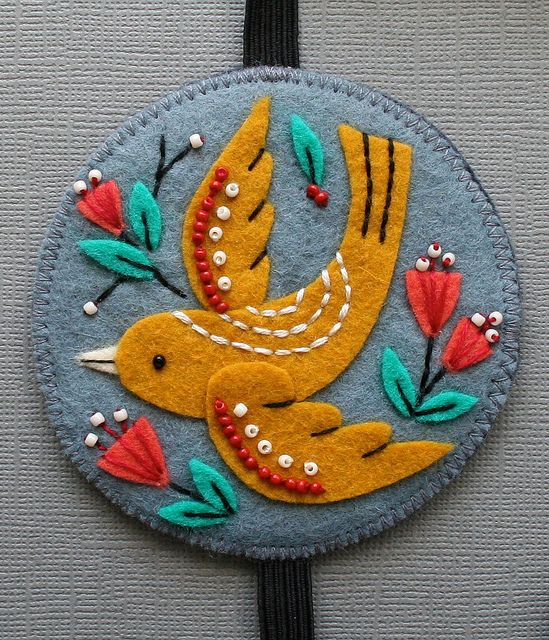pretty applique and embroidery