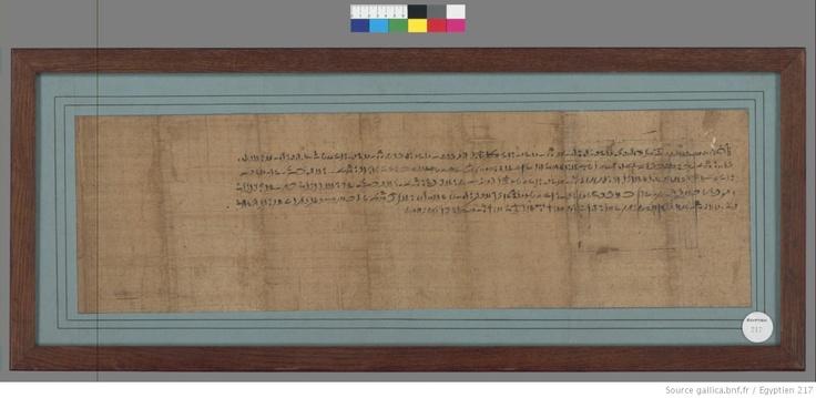 Contrat démotique (institution d'une héritière). Papyrus daté de l'An V du règne de Darius (29 février-29 mars 517 av. J.-C.). Gallica © Bibliothèque nationale de France