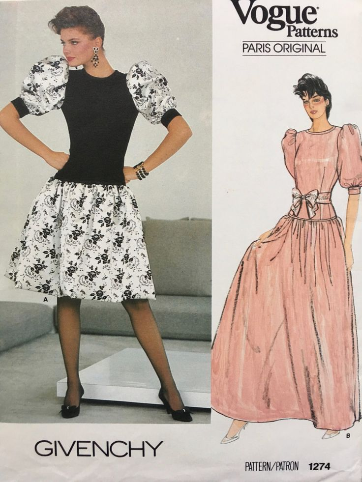Vogue Paris Original 1274 Givenchy Misses Dress VINTAGE PATTERN Size 12 by weseatree on Etsy