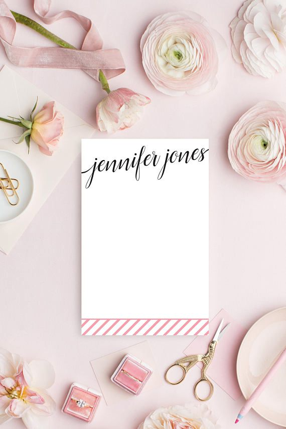 Personalized Stationery  Personalized Stationary Notepad