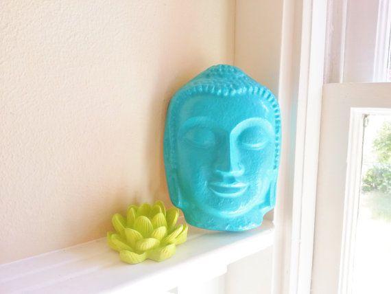 Buddha and Lotus flower gift set, Wall Hanging sculptures, Sacred Home Decor, Dorm Room Decorative item via Etsy