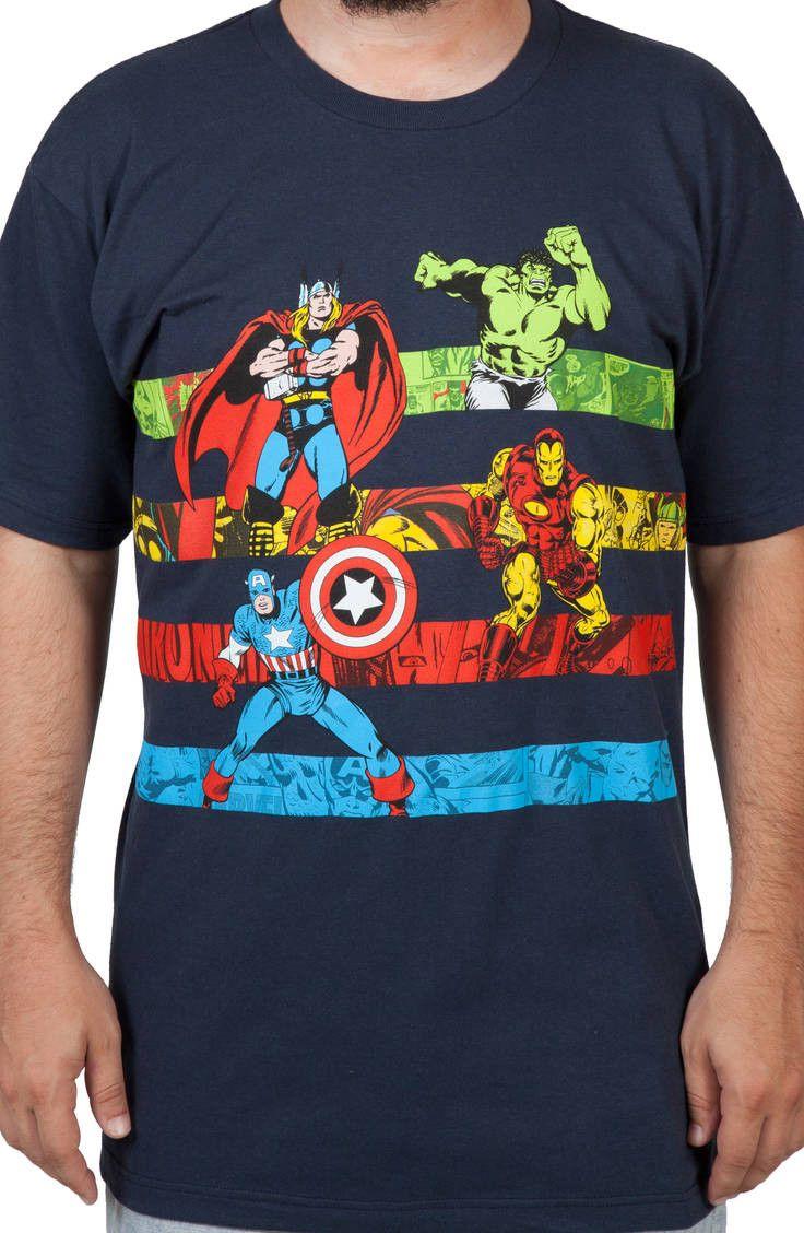 Avengers Stripes Shirt