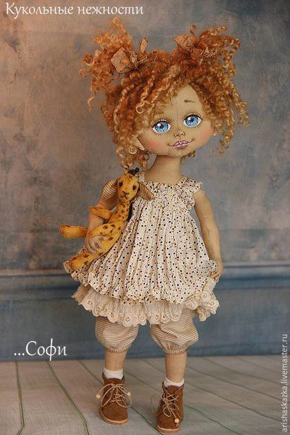 Коллекционные куклы ручной работы. Ярмарка Мастеров - ручная работа. Купить Софи . Игра в сафари .Кукла авторская текстильная Кукла ручной работы. Handmade.