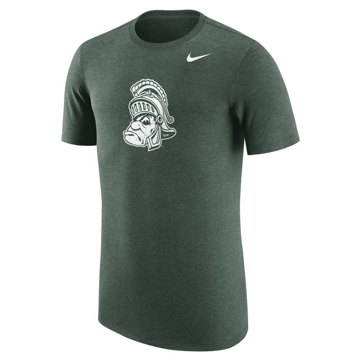Nike Michigan State Spartans Heathered Green Vault Tri-Blend T-Shirt
