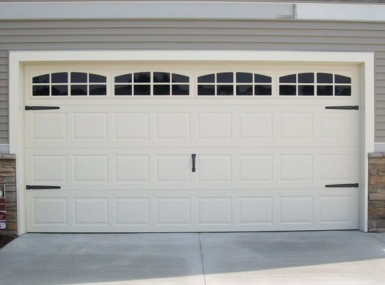 Plastic garage door window inserts