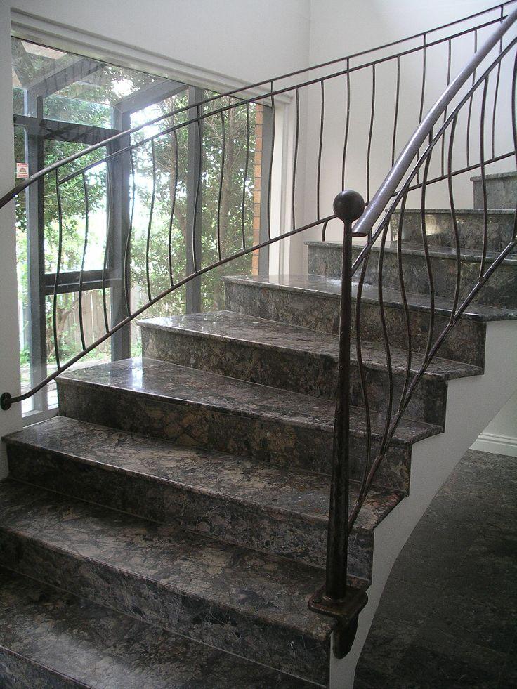 Wrought iron staircase balustrade.
