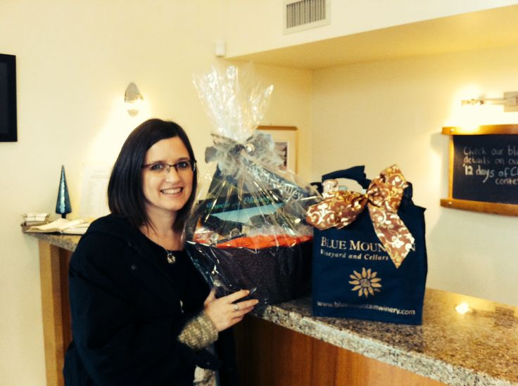 The winner of our '12 days of Christmas' contest, Cathi Shaw with her prize!