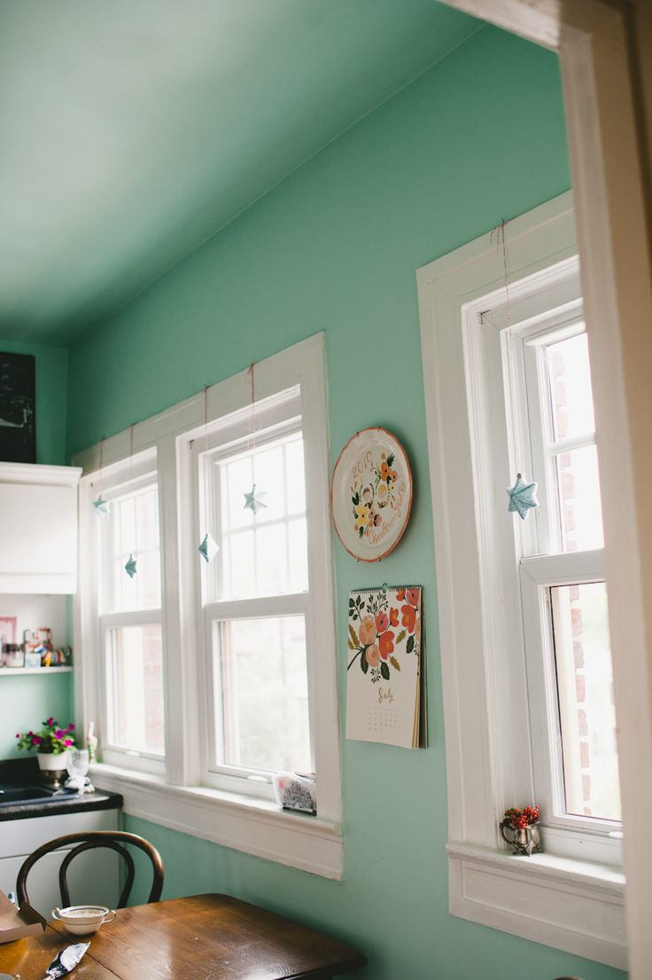 Love this Aqua Kitchen Wallthe way it