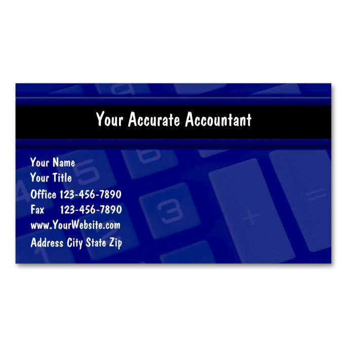 accounting business card templates 28 images business