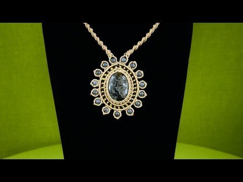 How to Make a Macrame Pendant with a Gemstone and Beads - YouTube