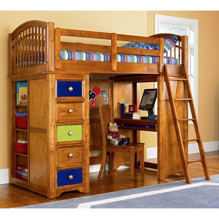 16 Best Loft Bed With Dresser Desk Images On Pinterest